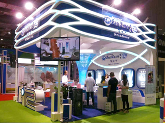 上海国际水展百士可展台搭建成功案例